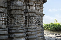 Ornamented Walls, Daitya Sudan temple, Lonar, Buldhana District, Maharashtra, India