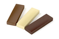 Wafers with different chocolate