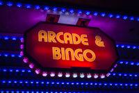 Retro Arcade And Bingo Sign