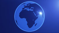 Planet Earth simple Africa