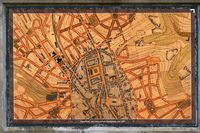 Historical city map Pirmasens