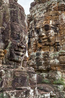 Bayon temple in The Angkor Wat