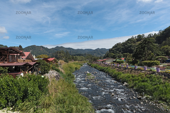 on the bank of the caldera brook in boquete is the seat of the flower and coffee fair panama