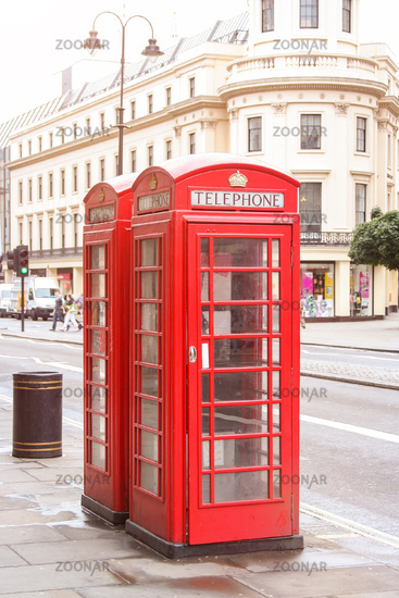 red phone boxes London