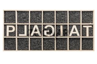 Word PLAGIAT unusual letters