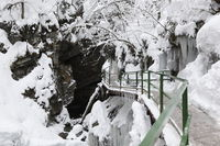 Breitach canyon in winter