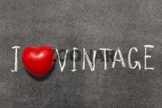 love vintage