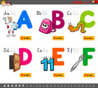 educational cartoon alphabet letters for kids