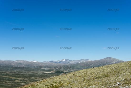 View to Snøhetta Peak in Norway