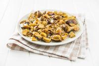 Pickled mushrooms. Marinated boletus.