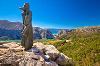 Amazing view of Cetina river canyon and town of Omis