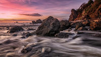Sunset at a Rocky Pacific Northwest Beach