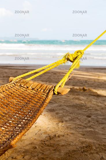 view from an hammock near ocean  beach