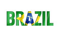 brazilian flag text font