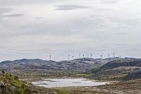 Wind farm on the island of Ytre-Vikna