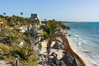 ruins of the mayan city tulum, quintana roo, mexico