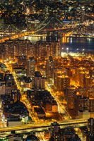 Aerial Manhattan bridge New York