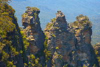 The Three Sisters rock formation in the Blue mountains, Australia
