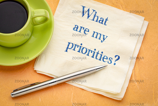 What are my priorities?