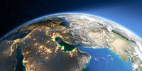 Detailed Earth. Persian Gulf countries
