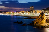 Lloret de Mar Town at Dusk