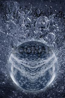 Perlende Luftblasen