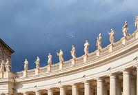 Saint Peter's Square details in Vatican