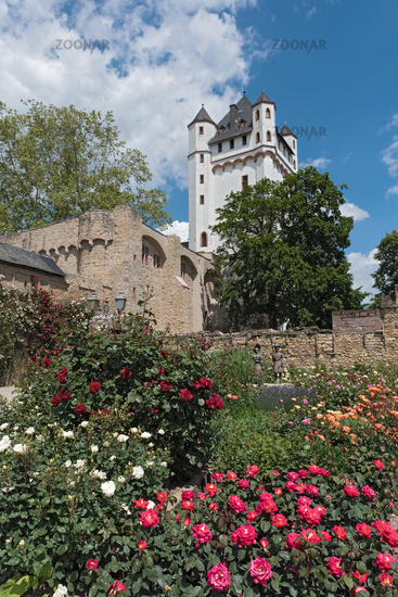 the tower of the electoral castle in eltville on the rhine germany