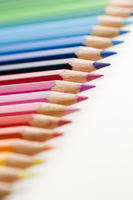 colorful pencils in a row vertical