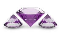 Three pink diamonds