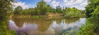 Panorama, river, Erft, renaturation, river bed