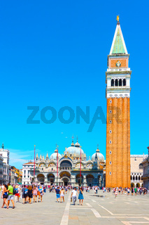 The Saint Mark's square in Venice