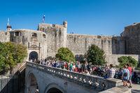 Crowds visiting Dubrovnik Old Town