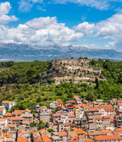 Fortress above the Croatian town of Novigrad in Istria County