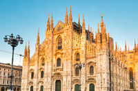 Duomo gothic cathedral at sunset