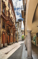 Beautiful urban landscape of Bergamo