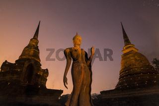 ASIA THAILAND SUKHOTHAI WAT SA SI TEMPLE