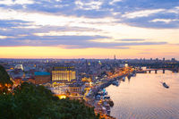 Skyline Kiev, Podol district. Ukraine