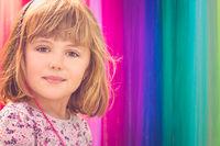 Portrait of a cute Caucasian girl