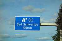 Federal Motorway Exit Bad Schwartau