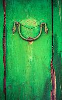Rustic Wooden Door With Handle