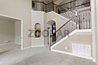Home House Interior Empty Living No Furniture Modern Contemporaryt Stylish Design Decoration Model