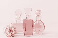 Three bottles vintage perfume