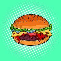 Burger, fast food restaurant