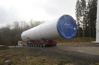 Transport of heavy parts for wind turbines