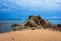 Beach Rock And The Sea
