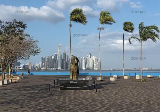 skyline of panama city, the capital of the republic of panama