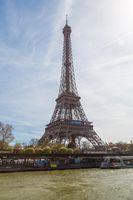 Paris, France, March 31, 2017: Architectural details of Opera National de Paris: Haydn Facade sculpture. Grand Opera is famous neo-baroque building in Paris, France - UNESCO World Heritage Site.