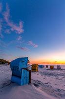 Beach chairs on Juist