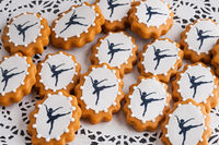 decorative gingerbread with ballerina